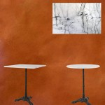 Bistrotafels marmer rond en vierkant